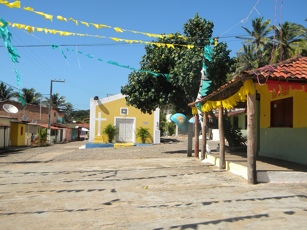 Preparativos para a tradicional festa de São João.