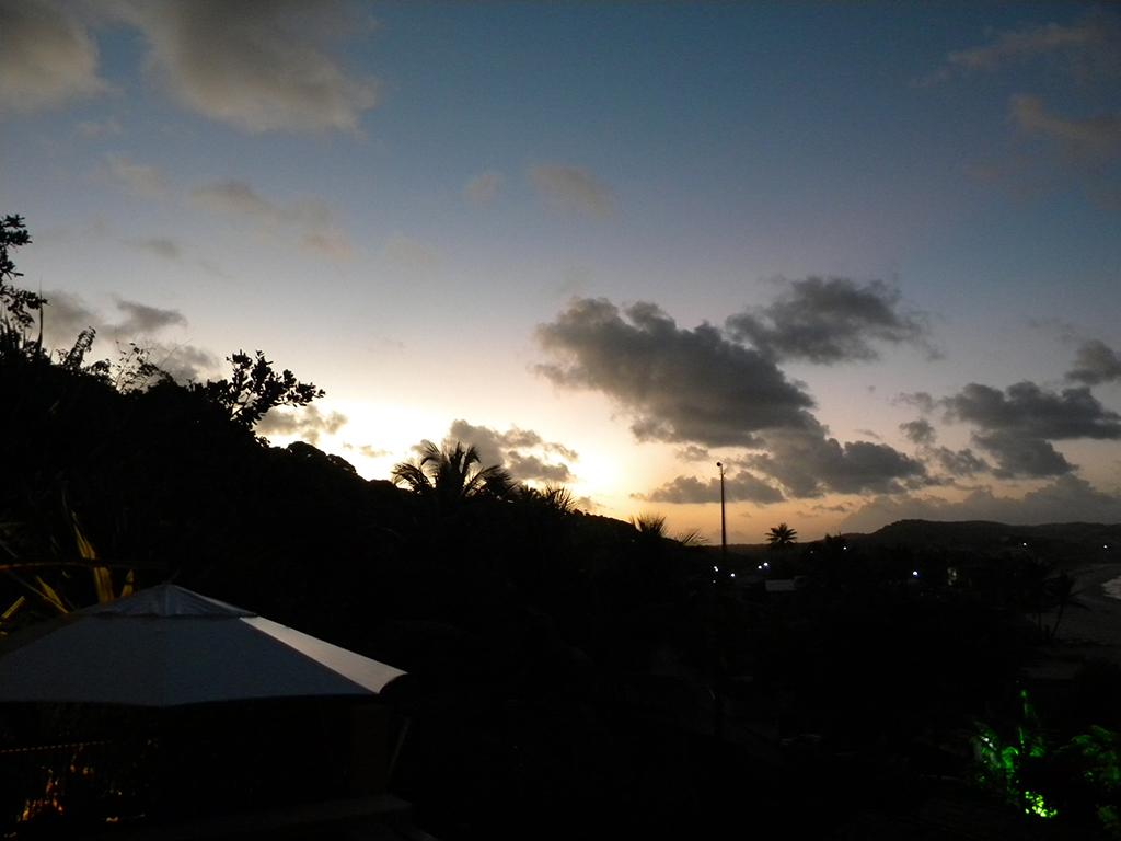 Pôr do sol visto da pousada Sagi-Iti.
