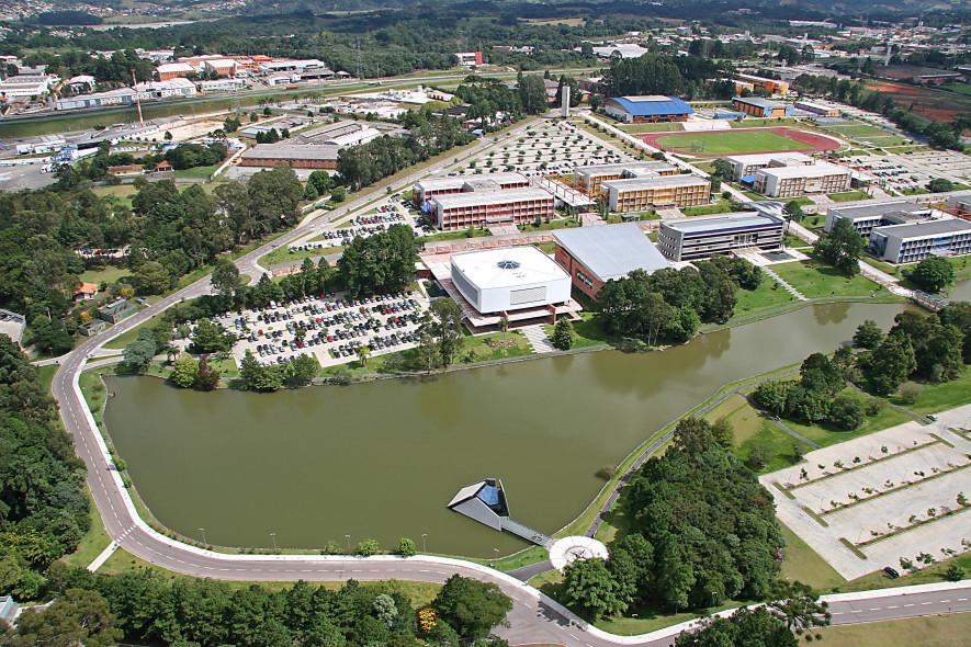 Câmpus Ecoville da Universidade Positivo, em Curitiba Crédito: Divulgação