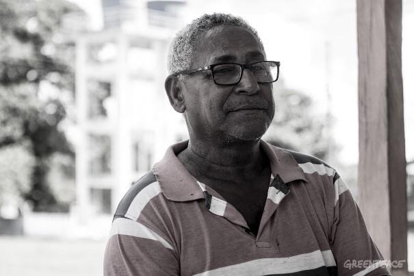 Feliciano Pereira Ramos Picanço, 64, morador do Quilombo do Ambé, no Amapá. (©Otto Ramos/Greenpeace)