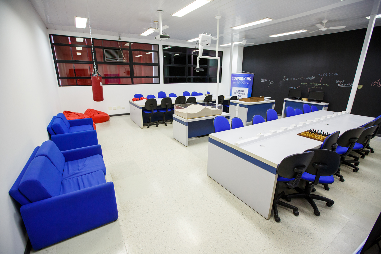 Espaço Coworking da Universidade Positivo Crédito: Divulgação