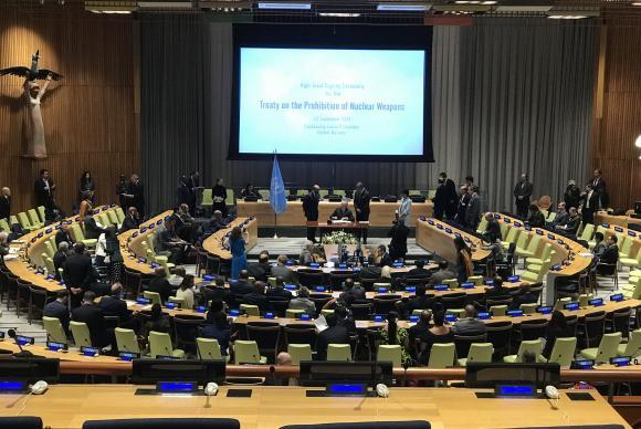 Nova York - Presidente Michel Temer assina o Tratado para Proibição de Armas NuclearesPaola De Orte/Correspondente da Agência Brasil