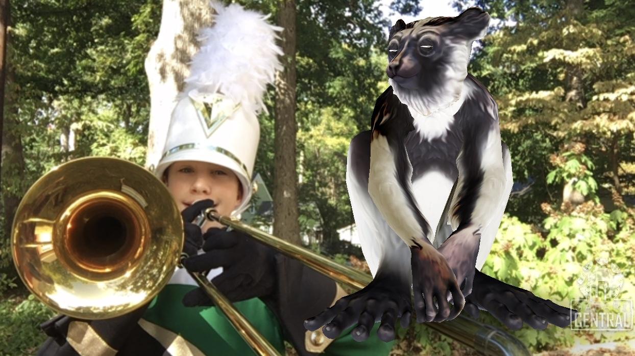 Já a melhor foto com o lêmure Bebi foi dele integrando uma banda.  © Stephen Davis / Safari Central