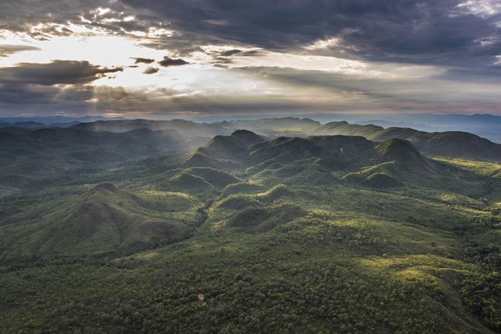 Assunto: Vista Aérea da Reserva Natural Serra do Tombador - RPPN da Fundação Grupo Boticário Informação Adicional: Inserida na Reserva da Biosfera do Cerrado Goyaz Local: Cavalcante - GO Data: 11/2016 Autor: Andre Dib